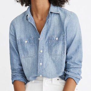 Madewell Classic Ex Boyfriend Denim Shirt
